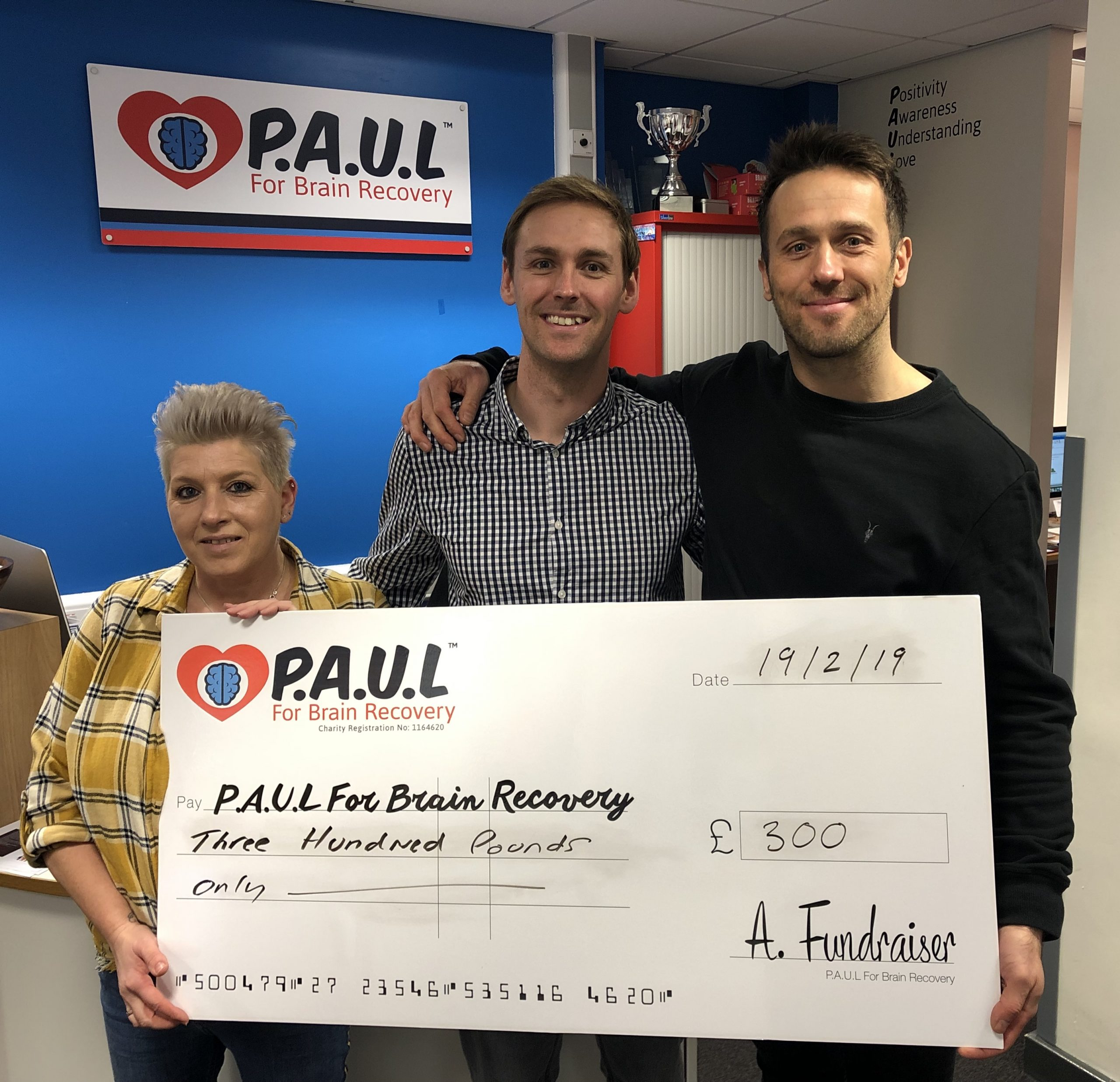 paul for brain recovery fundraising