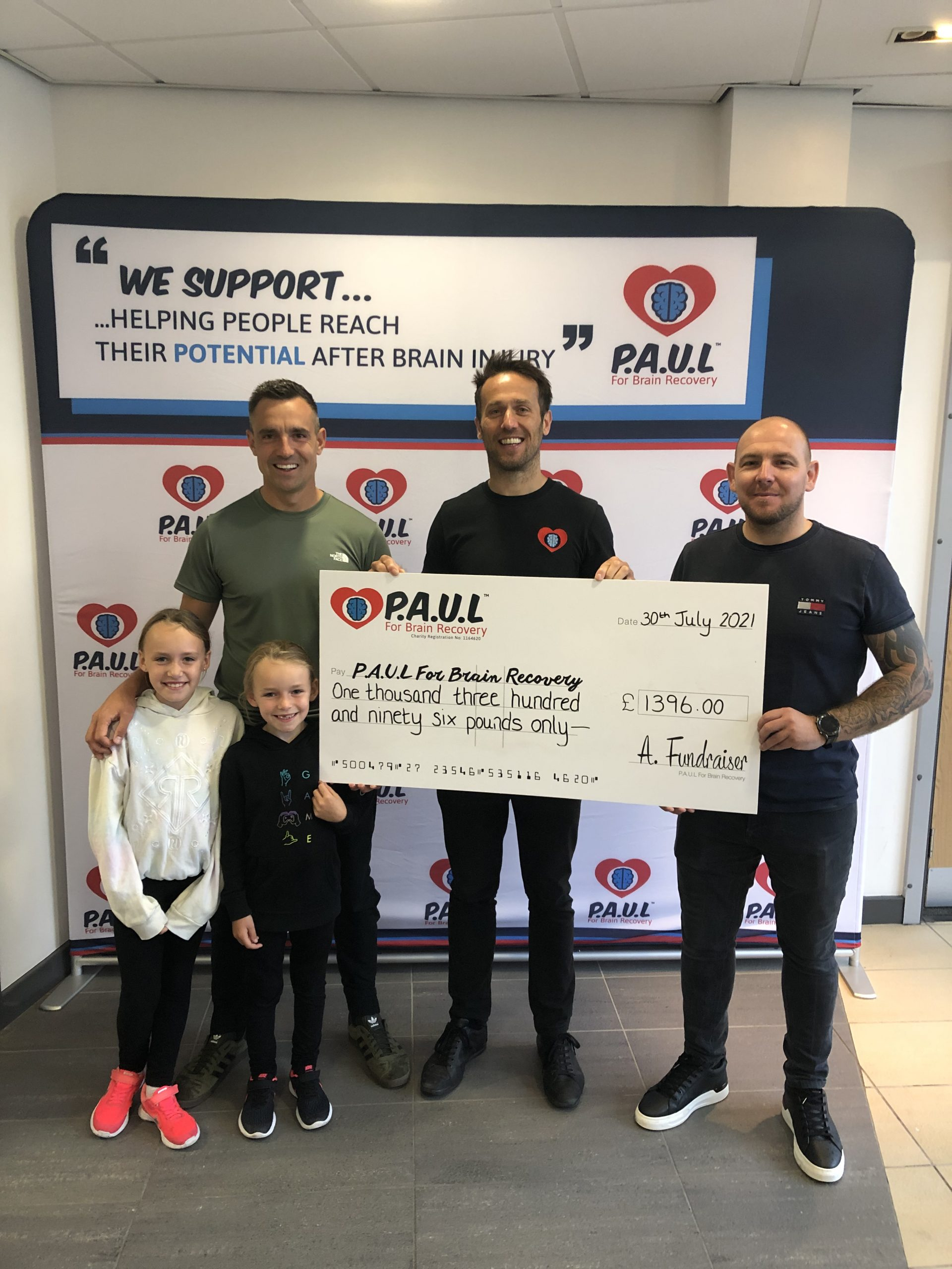 Paul for brain injury charity fundraising